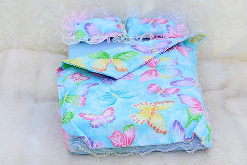 Bed- Blue Sparkly Butterflies