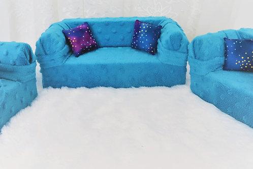 Deluxe Sofa - Blue Sea Minke