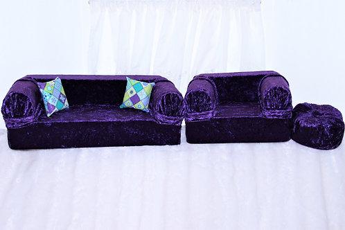 Sofa for 18inch Doll- Purple Crush