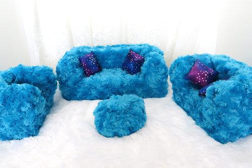 Deluxe Sofa - Plushy Blue Pizazz