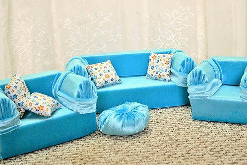 Classic Sofa - Aqua with Stars