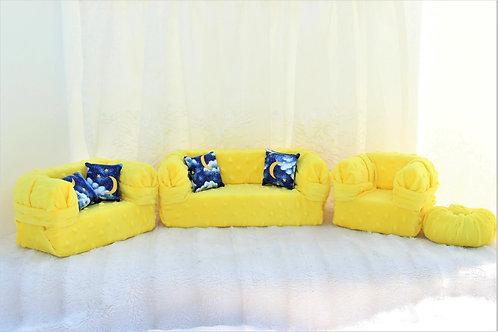 Deluxe Sofas- Plush Sunshine