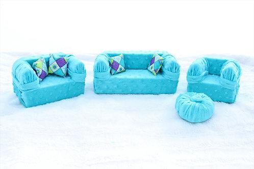 Deluxe Sofa - Seafoam Teal Minke