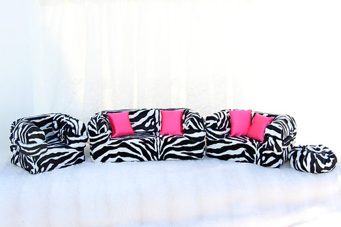 Deluxe Sofa- Zebra
