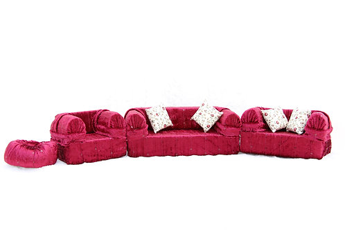 Classic Sofa- Burgundy Sequins