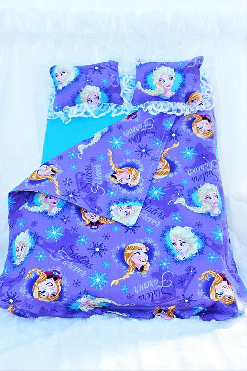 "Bed for 18 inch Doll- ""Frozen"" Sisters"