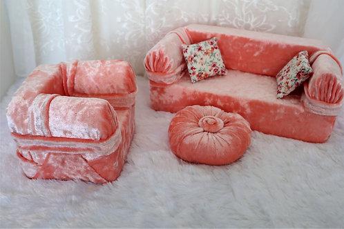Standard Sofa - Peach Ice