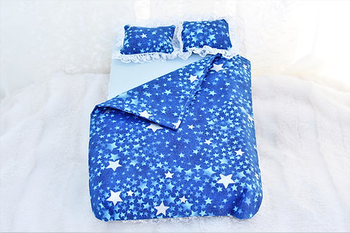 Bed- Blue & Silver Stars