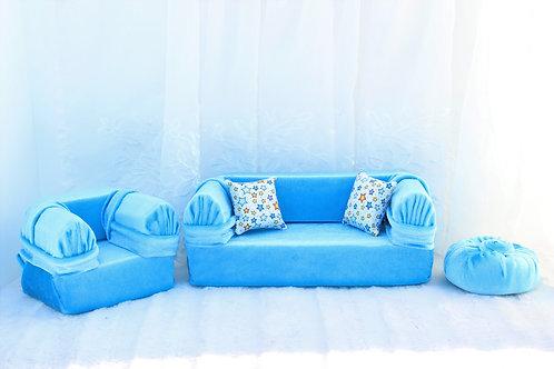 Standard Sofa- Aqua Stars