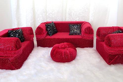 Deluxe Sofa - Burnt Red Shimmer