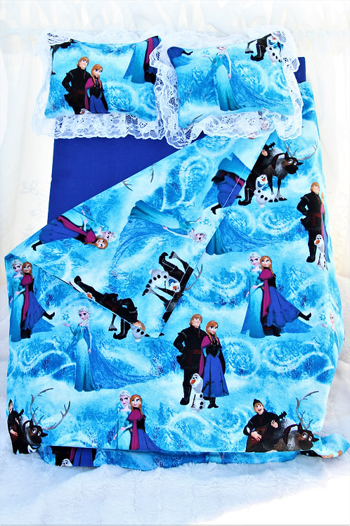 """Bed for 18 inch Doll- Wind Swept """"Frozen"""""""
