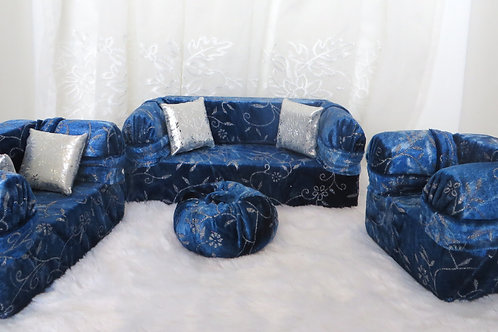 Deluxe Sofa - Blueberry Silver Frosting