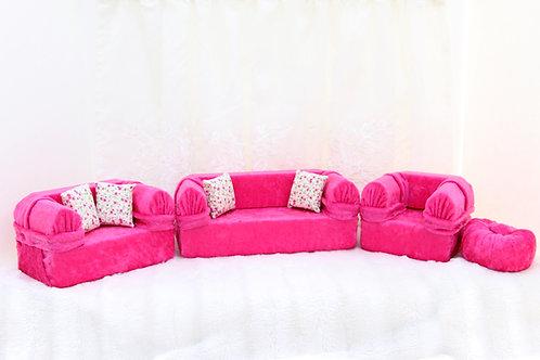 Classic Sofa- Electric Pink