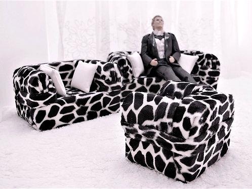 Deluxe Sofa - Imitation Giraffe