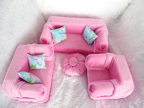 Classic Sofa - Bubble Gum