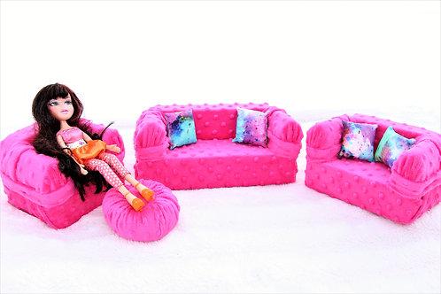 Deluxe Sofa - Cherry Minke