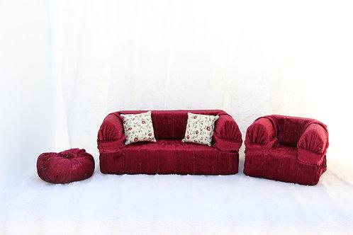 Standard Sofa- Burgundy Sequins