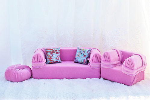 Standard Sofa- Bubble Gum Pink