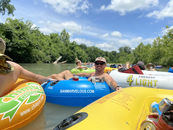 Frontera Tours River Tubing-Austin Texas river tubing is a great activity for bachelor and bachelorette parties. Our river tubing floats depart from downtown Austin and head to San Marcos river to float the river. We include tubes, coolers, ice, transportation and hosts. River tubing near Austin is the best tour in Austin Texas.