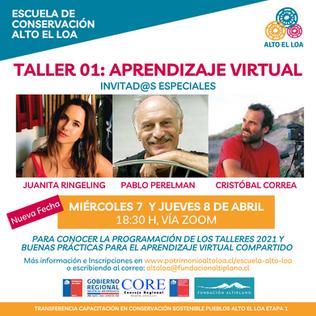 El Miércoles 7 y Jueves 8 de Abril se realizó el primer taller de Aprendizaje Virtual Compartido