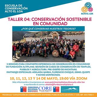 Taller 04 Conservación Sostenible en Com