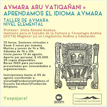 Volante Taller Aymara.png