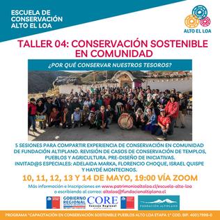Conservación Sostenible en Comunidad…