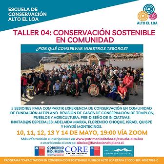Taller 04 Conservación Sostenible en Co