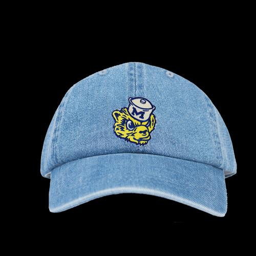 university denim cap eastern michigan baseball of western