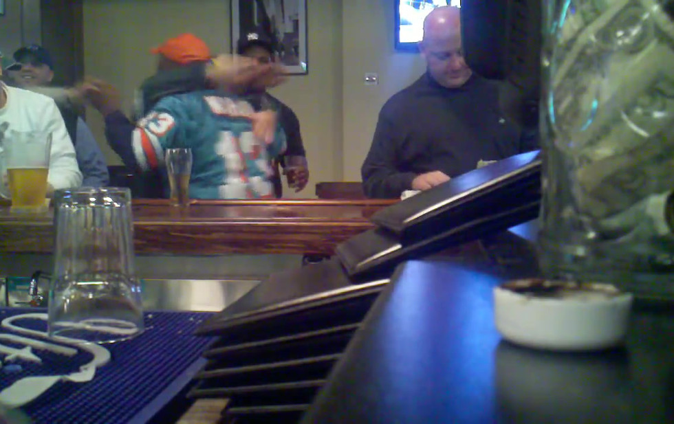 Crazy Dolphins Fan Gets Bar Wedgie