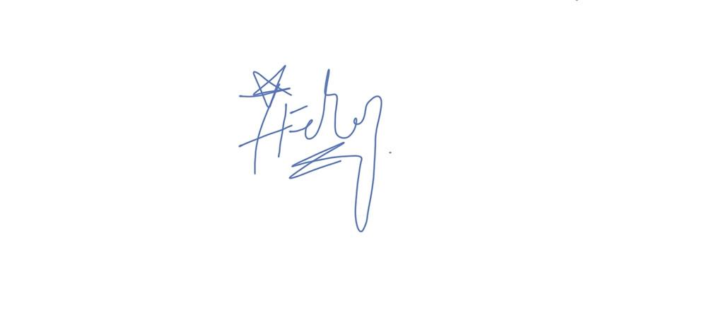 Coach Feroz Khan's Signature