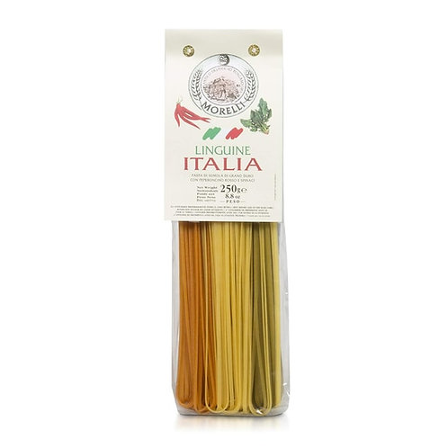 Morelli Linguine with Wheat Germ-  Spinach & Red Chili