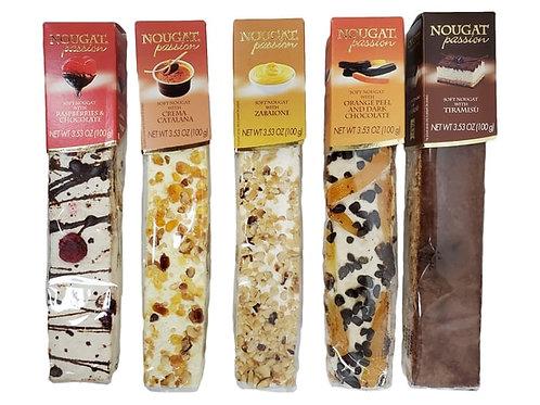 [5 Pack] Quaranta Pasticceria Nougat Soft Fruit Torrone Bars