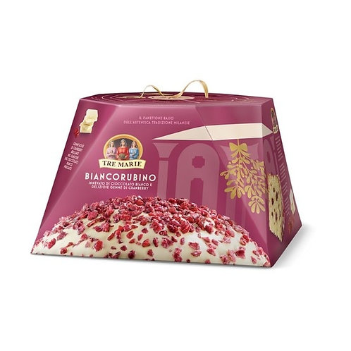 Tre Marie Panettone Biancorubino with Candied Red Cranberry and White Chocolate