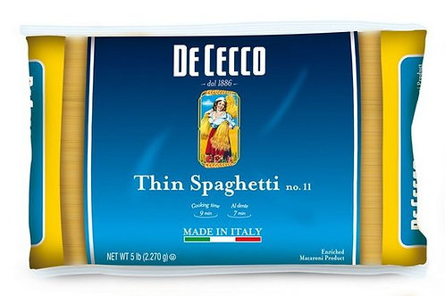 De Cecco #11 Spaghettini Bulk Pasta