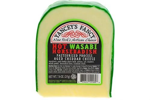 Yancey's Fancy Hot Wasabi Horseradish Cheddar