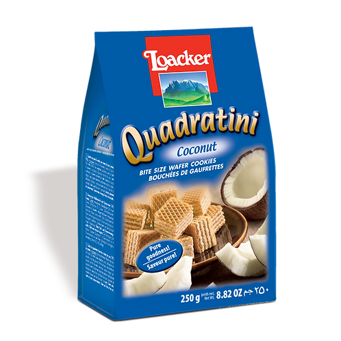 Loacker Quadratini Coconut Cube Wafers