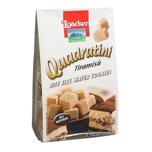 Loacker Quadratini Tiramisu Cube Wafers