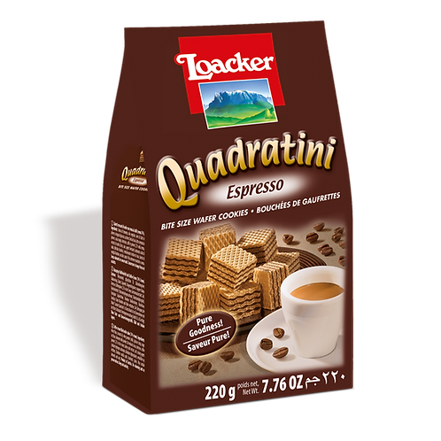 Loacker Quadratini Espresso Cube Wafers