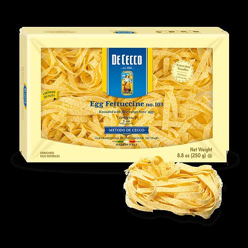De Cecco #103 Fettuccine (egg enriched)