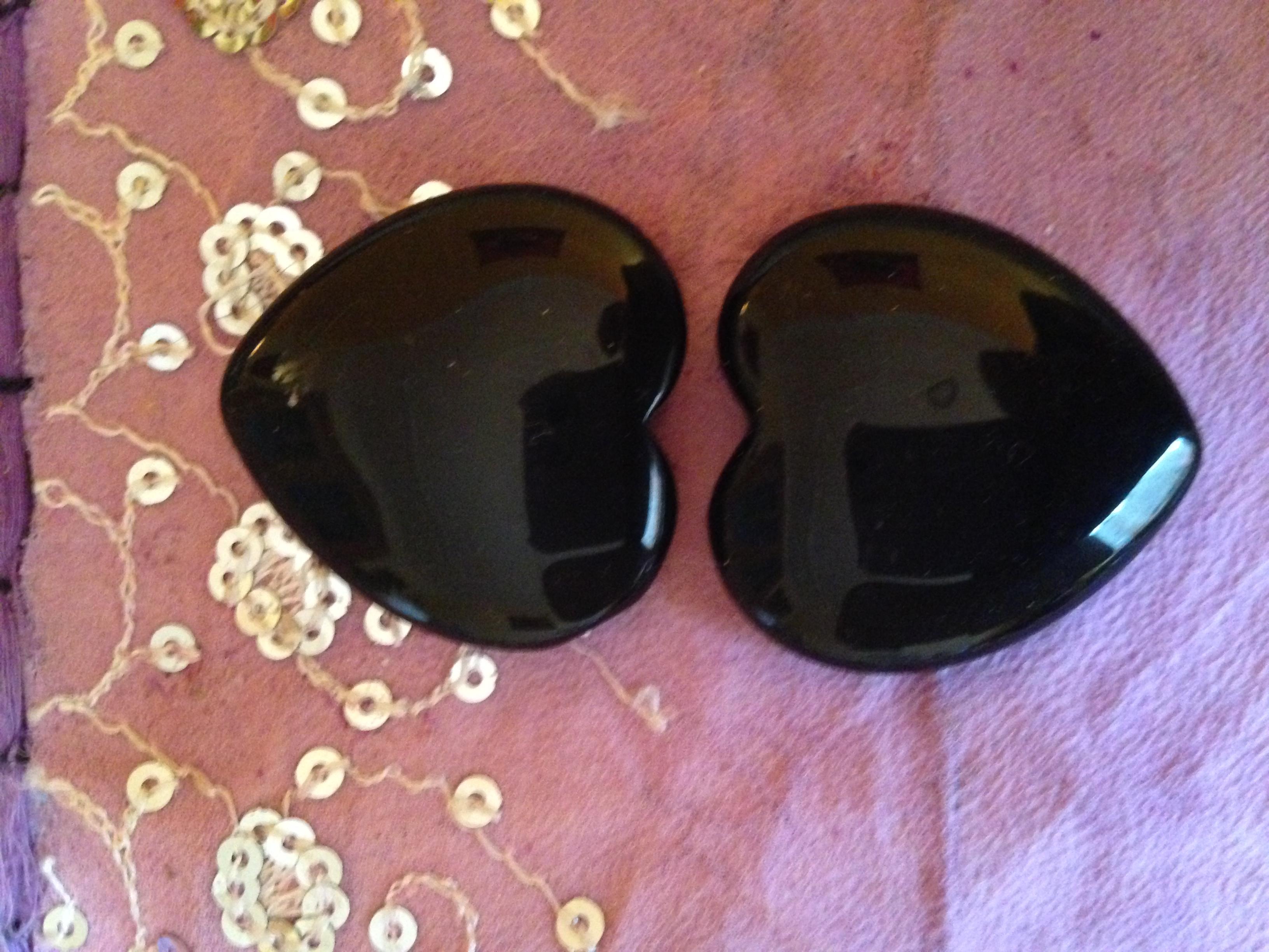 Obsidienne noire en coeur 100gr