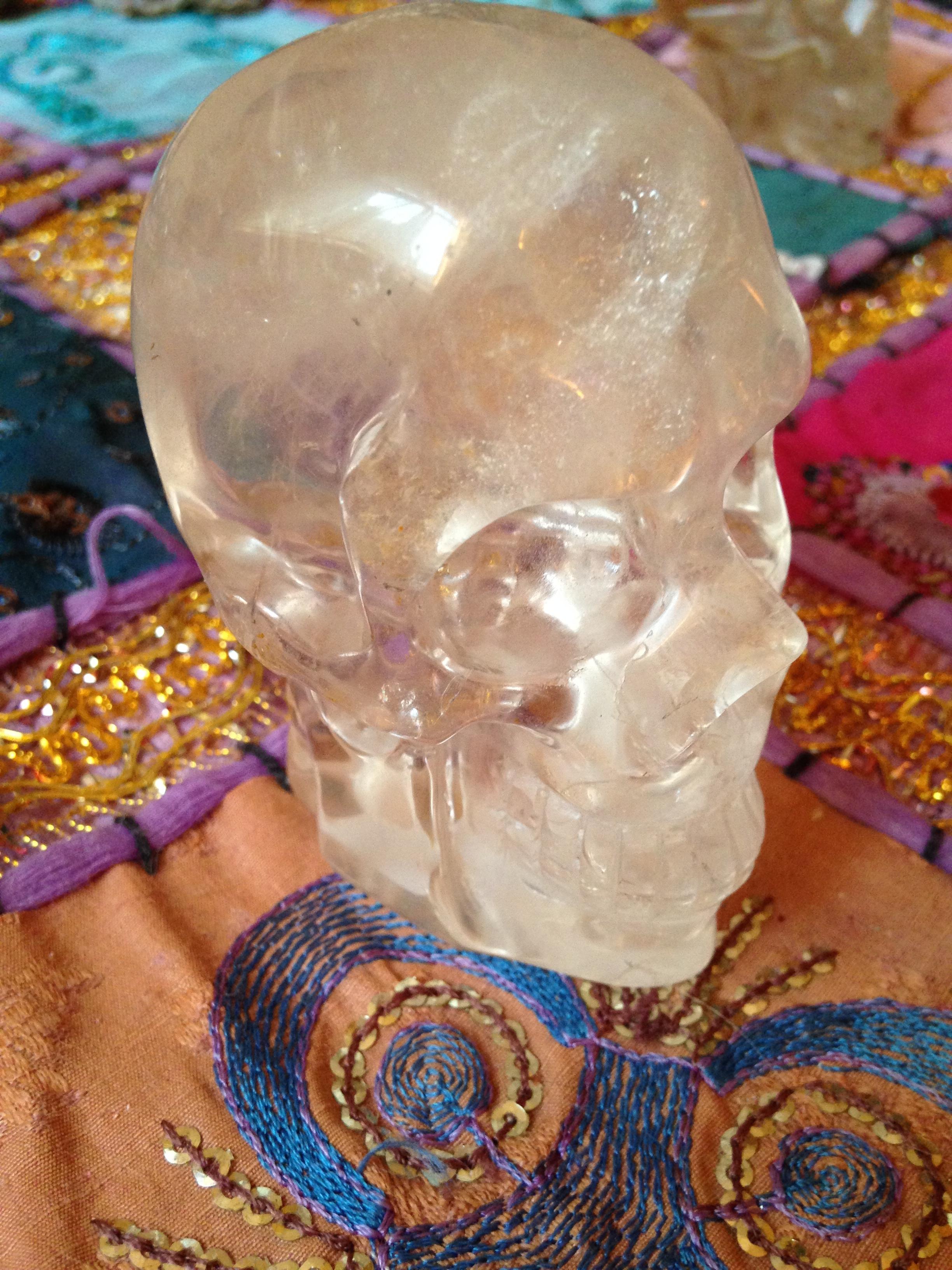 Crâne de cristal de roche 260gr