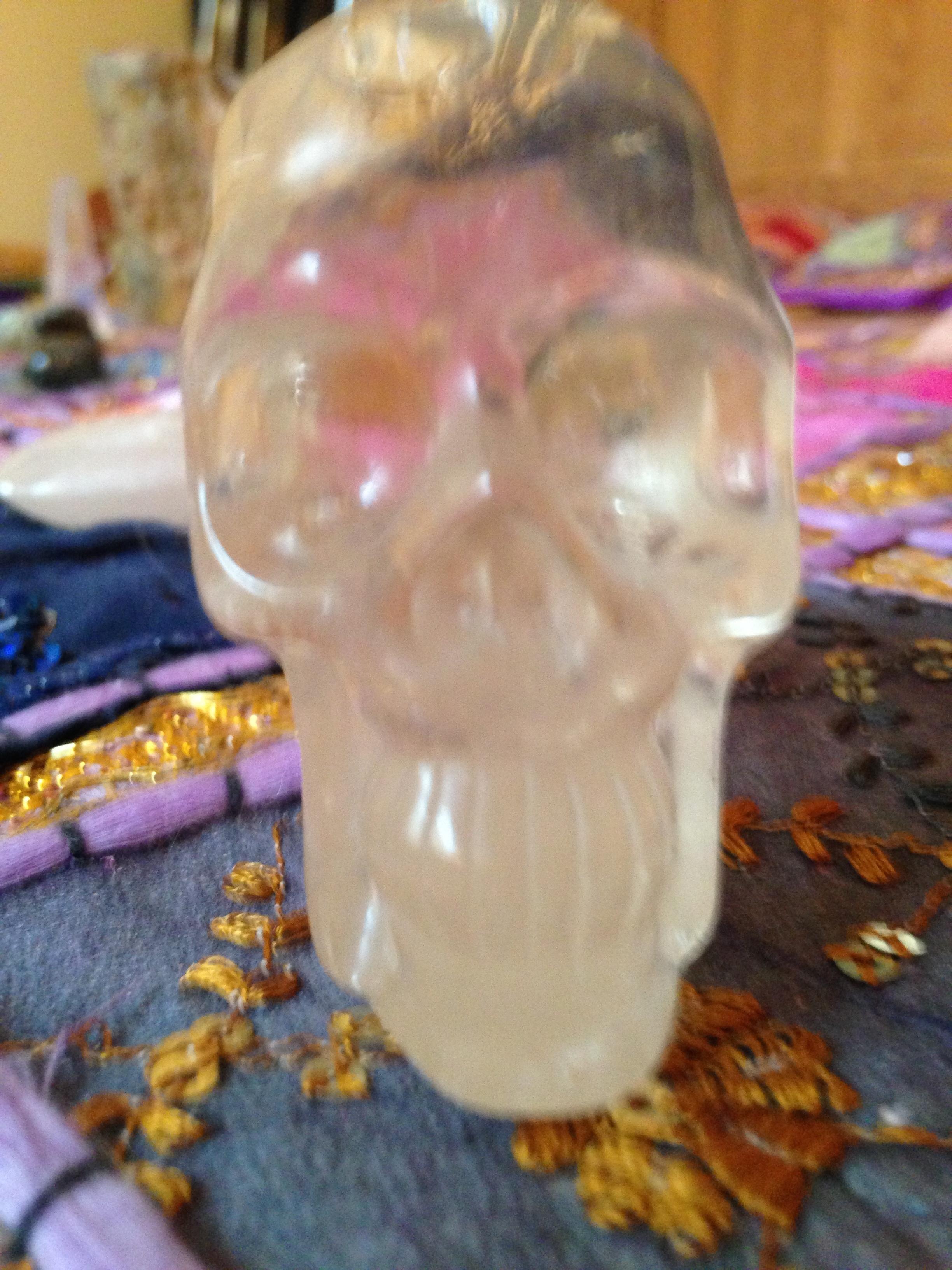 Crâne de cristal de roche 200gr