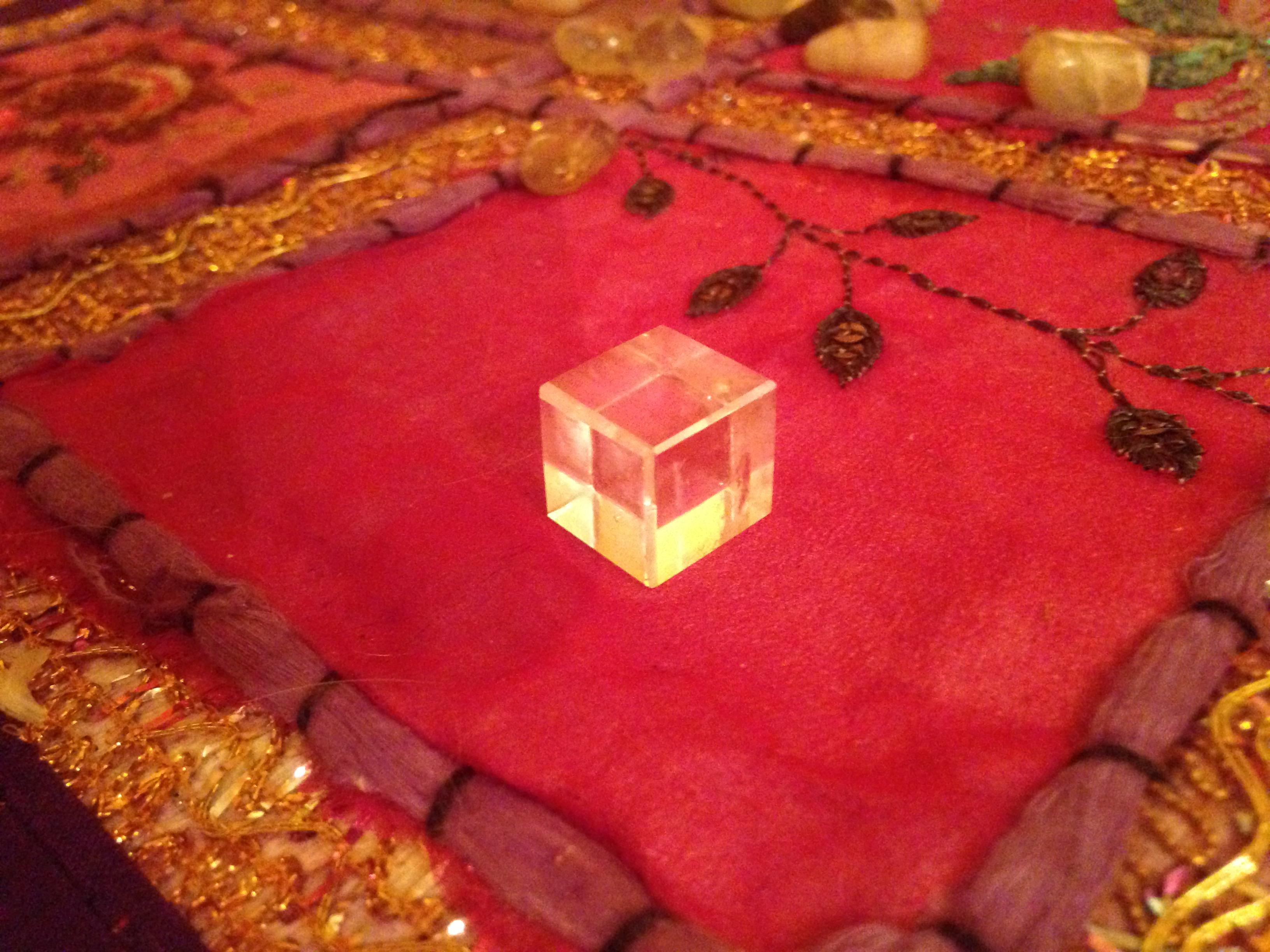 Cristal de roche : cube