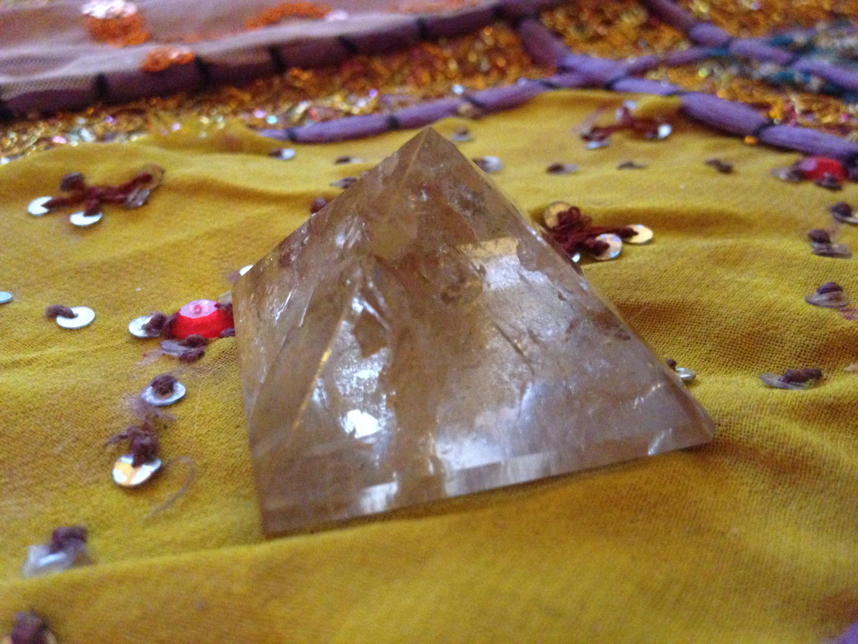 Pyramide de Quartz fumé