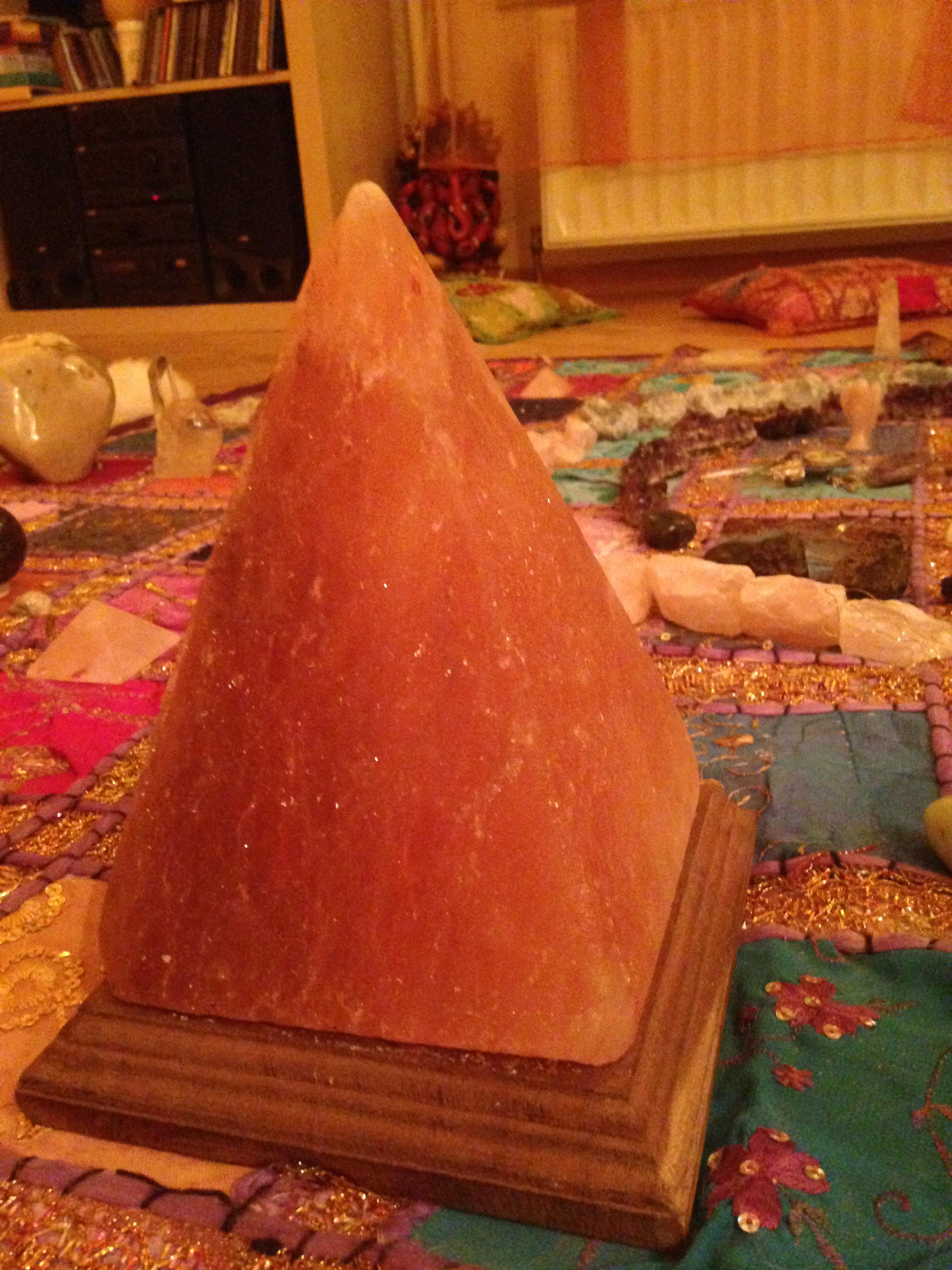 Lampe de sel : Pyramide