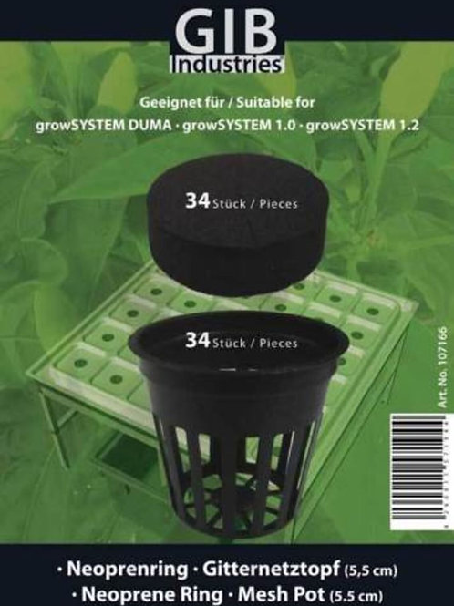 Gitternetztopf-Set für GrowSystems