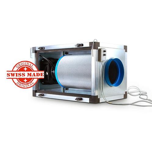 CarbonActive EC Inline FilterUnit 500m³/h 125er Flansch nur Lüfter