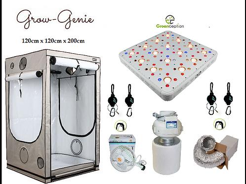 Grow-Genie`s Vista-Growbox Q120 + Greenception Cluster LED 512W GC 16 schaltbar