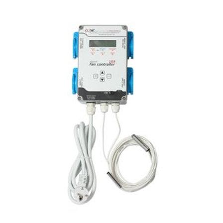 GSE digitaler Klimacontroller für Temp.u. Luftfeuchte Zu- Abluft 16 A 4 Ausgänge
